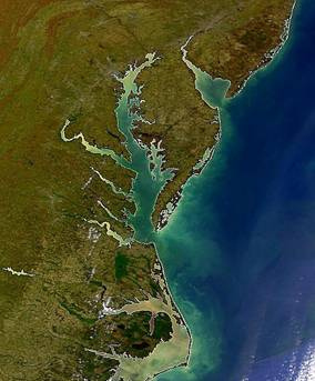 Chesapeake Bay satellite image