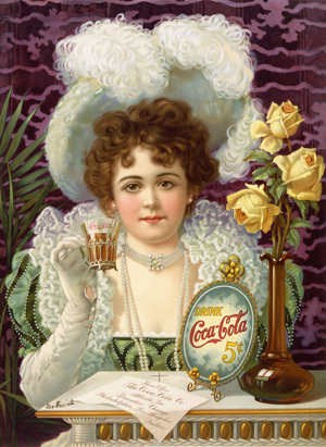 A coca-cola poster from the turn of the century