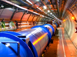 LHC dipole magnet in the tunnel