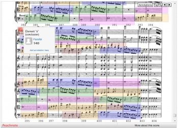 A screenshot from a page of a digitized version of Mozart's Symphony No. 41 in C major.