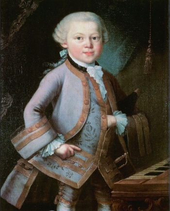 A painting of Mozart when he was six years old.