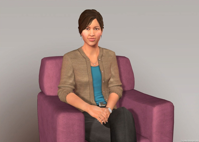 <strong>The (virtual) doctor will see you now.</strong> Researchers at CMU and USC have created virtual 'therapists' to help screen for emotional distress. Now in clinical trial at Emory hospital in Atlanta, Georgia, US, these therapists offer judgment-free, highly accurate assessment of bio-markers indicating mental health disorders like depression and PTSD. Not a replacement for human therapists, these artificially intelligent counselors, like Ellie seen here, can judge emotional states better than humans. Courtesy USC ICT.