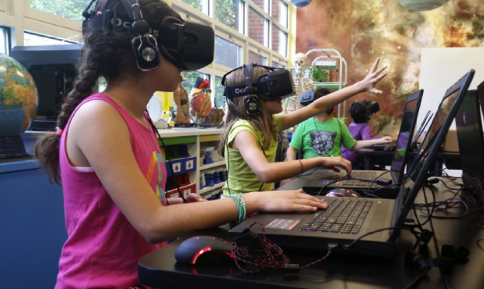 <strong>The future of education.</strong> Students learn best by doing, and at the Arlington Science Focus School (ASFS), VR proves that truism every day. ASFS uses VR to develop extensive understanding of the scientific process and content through inquiry-based learning. VR takes students to places (Mars, for instance) and gives them opportunities they wouldn't have otherwise. Courtesy Internet2; the Synapse.