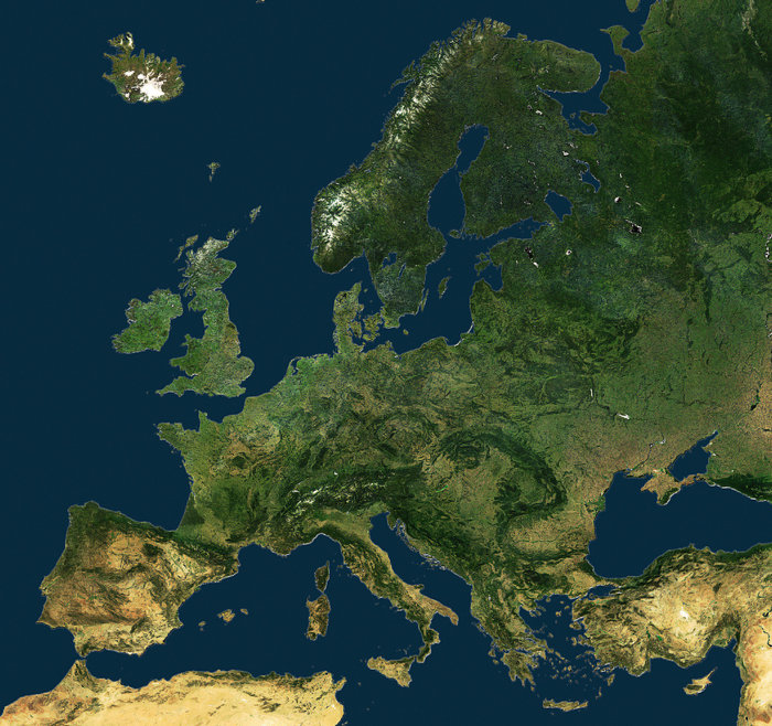 united europe from space