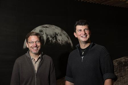 <strong>Star crossed.</strong> Professors Brown and Batygin have used simulations from the CITerra supercomputer to predict the position of the 9th planet in our solar system. Courtesy California Institute of Technology.