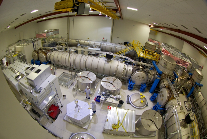 <strong>High stakes.</strong> 'My nightmare scenario is that somebody subtly alters our data, and we find out five years later after papers have been published,' says Abe Singer. Pictured: The laser and vacuum equipment area at LIGO houses pre-stabilized laser, beam splitter, input test masses, and other equipment. Courtesy Caltech/MIT/LIGO Lab.