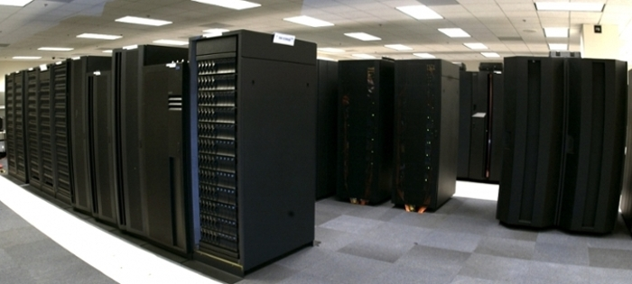 <strong>New kids on the block.</strong> Supercomputers Luna and Surge have increased NOAA computing ability to 5.78 petaFLOPS. This additional computing capacity means more lead time in storm prediction. Courtesy NOAA.