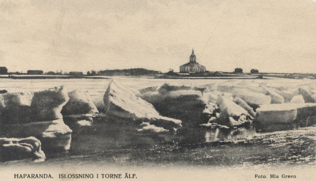 <strong>Postcards from the edge. </strong> 1906 postcard with photo taken in Happaranda. Researchers have collated observations from early citizen scientists confirming a shift in ice coverage after the Industrial Revolution. Courtesy York University.