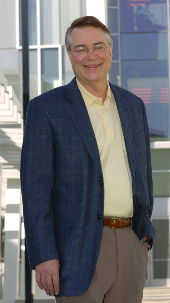 <strong>Tech traveler. </strong>A member of Disney's Tomorrowland generation, Larry Smarr was one of the first to use supercomputers to crack Einstein's gravitational wave theories, and was lead investigator in the NSF's <a href= 'http://www.optiputer.net' > OptiPuter project.</a> A chief reason supercomputing is accessible in the academic environment, Smarr has his finger on the pulse of US cyberinfrastructure. Courtesy Larry Smarr.