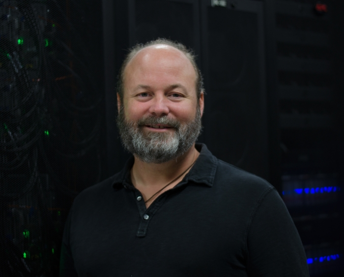 <strong> Leader of the hack. </strong> Human translational genomics coordinator Ari Kahn helped lead the Zika hackathon in Austin. Courtesy TACC.