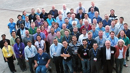 <strong>Team of champions. </strong>275 Campus Champions at over 250 organizations across the US broaden access to XSEDE-managed computing resources. Courtesy Steve Duensing; NCSA; XSEDE.