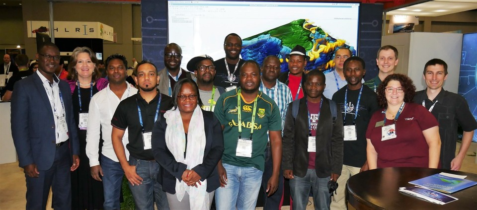<strong>Global village. </strong>South African Development Community members visited the Texas Advanced Computing Center during SC15. Travel assistance to SC16 is offered to those applying by September 2. Courtesy TACC; STEM-Trek.