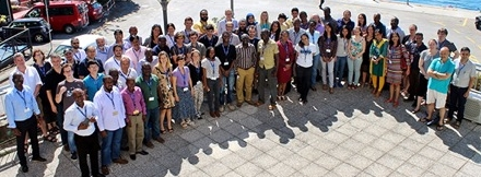 <strong>Global gathering. </strong> Many students from around the world attended the summer school in Trieste, Italy. Courtesy OSG.