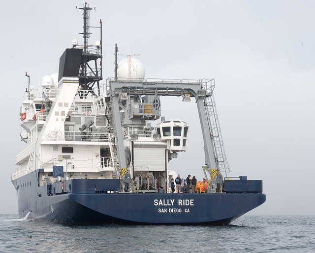 <strong>Tools of the trade. </strong> Scientific assets (such as the research vessel Sally Ride) are increasingly targets of cyber attack. The Open Science Cyber Risk Profile is helping domain scientists secure all aspects of their scientific work. Courtesy Scripps Institution of Oceanography at UC San Diego.