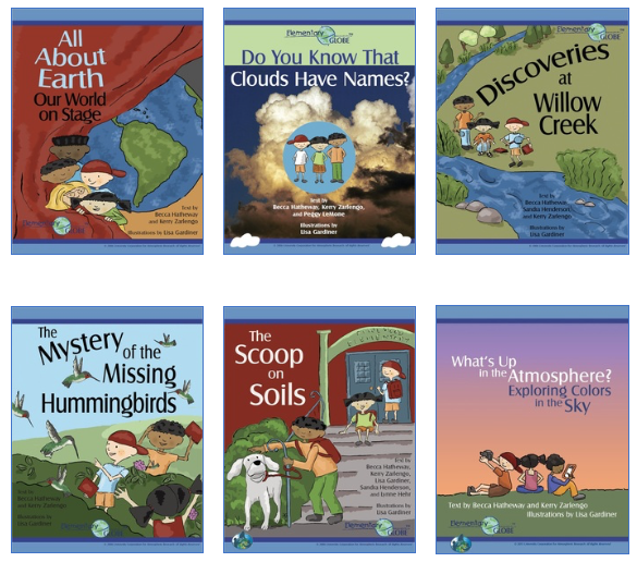 <strong>Student science.</strong> The Elementary GLOBE series is designed to introduce children to the joy of studying earth sciences. UCAR staff collaborated to add a new book on climate science to the educational series. Courtesy GLOBE.