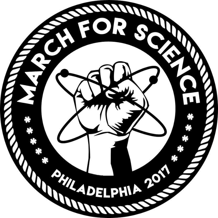 <strong>Science, not silence.</strong> 'Dissent is the highest form of patriotism,' said Thomas Jefferson. The scientific enterprise is under threat today and scientists are right to speak out, the March for Science organizers argue. Courtesy March for Science Philadelphia.