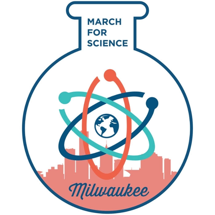 <strong> Gather by the water. </strong> Want to motivate politicians to implement evidence-based solutions? You're not alone. Let's meet at Red Arrow Park in downtown Milwaukee at 2 p.m. Courtesy March for Science, Milwaukee.