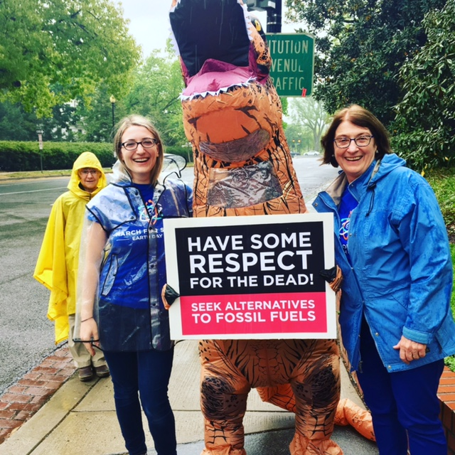 <strong>Family tradition. </strong> Alarmed by the assault on science, mother and daughter took to the streets of Washington DC at the March for Science. Courtesy Rachel Klein.