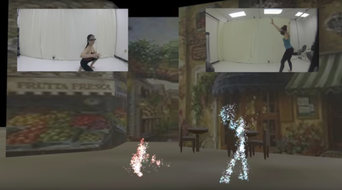 <strong>Lights, camera . . . VR?</strong> With virtual and augmented reality, audience, and performers can be anywhere. Internet2's low latency network helps make this possible. Courtesy Joe Geigel; RIT.