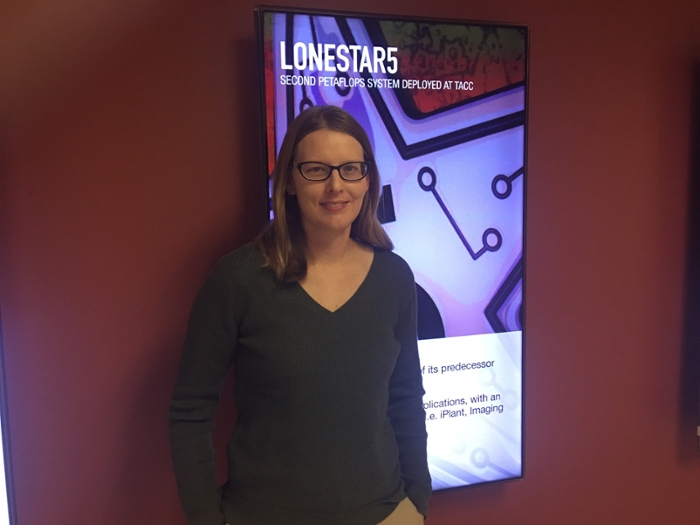 <strong>Lindsay Waldrop</strong>, an assistant professor in biology at the New Mexico Institute of Mining and Technology, attended the Life Sciences Institute in June 2017. Courtesy TACC.