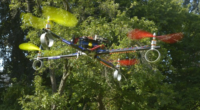<strong>Come fly with me. </strong> Researchers at Freie Universität are using the neurocopter to find out how a bee learns and processes information. They'd like to apply this understanding to human systems like networks of autonomous vehicles. Courtesy Tim Landgraf.