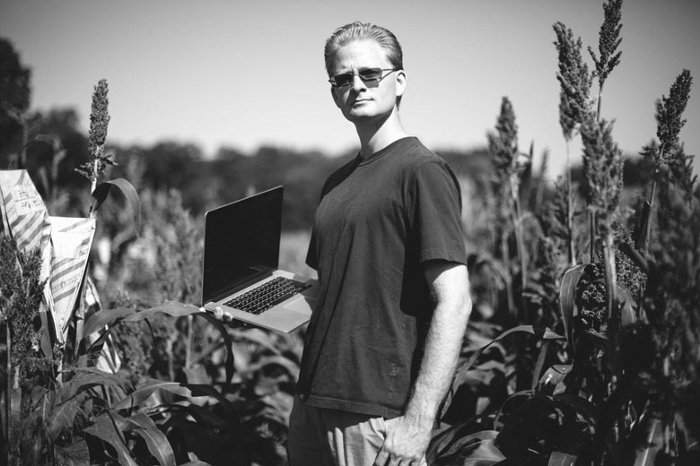 <strong>Outstanding in his field. </strong> Michael Campbell is a geneticist at the Ware Lab. His use of Jetstream HPC resources furthers our understanding of how to employ genetic variability to feed an expanding human population. Courtesy Constance Brukin.