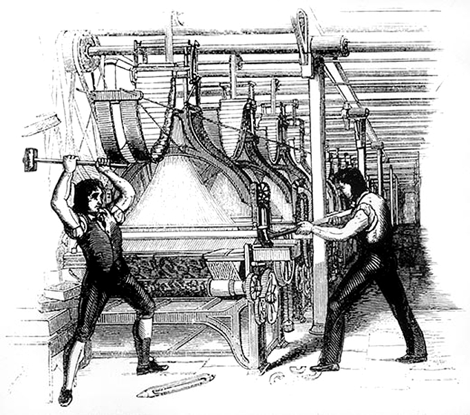 <strong>Luddites</strong> revolted against the advent of machines during the nineteenth century. What is the place for the human in our brave new world?