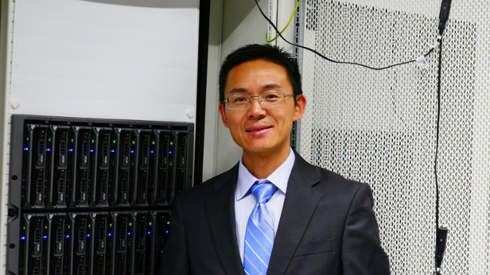 PSU engineering professor Xiaofeng Liu uses computational modeling to predict how water flows, in attempt to quantify the amount of carbon dioxide emitted by rivers. Courtesy Penn State.