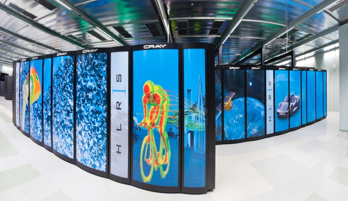 <strong>The fastest supercomputer</strong> in Germany is Hazel Hen at the High Performance Computing Center Stuttgart (HLRS). Tomorrow's exascale computers will be up to 100 times faster. Courtesy Boris Lehner for HLRS.
