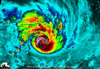 <strong>Supercomputers save lives</strong> by forecasting serious storms like Cyclone Felling in the Southern Indian Ocean. Courtesy William Straka, UWM/NASA/NOAA.
