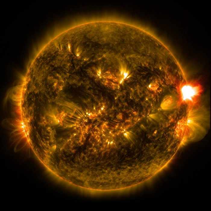 <strong>Supercomputer simulations</strong> prove that while normal levels of radiation may be safe, a solar storm could produce radiation levels with devastating health consequences. Courtesy NASA.
