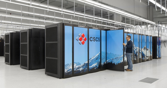 <Test for success.</strong> Scaling tests were run on the Juqueen superomputer at the Jülich Supercomputing Centre in Germany and on Piz Daint (pictured). Courtesy Swiss National Computing Centre.