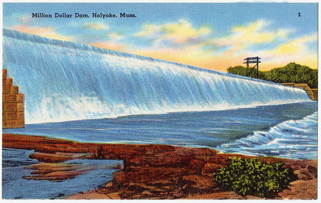 <strong>Million dollar dam.</strong> Computers are expensive to power and cool, but the existing hydroelectric infrastructure in Holyoke allows for significantly cheaper electricity rates than in Boston and other area research centers.