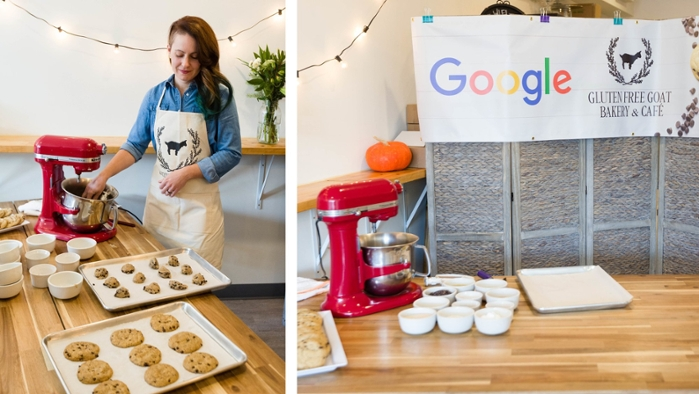 <strong>Sweet cooperation.</strong> Humans and machines worked together to develop recipes, bake, and taste test the best cookies possible. Courtesy Google.