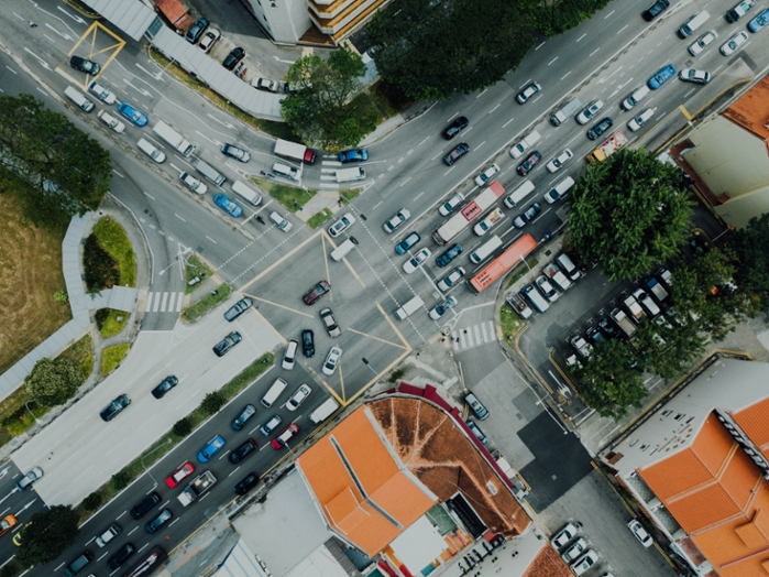 <strong>Clearing traffic jams</strong> will rely on massive data collection—but how should cities handle that data? Who can they share it with and how long will they retain it? Courtesy Chuttersnap/Unsplash.