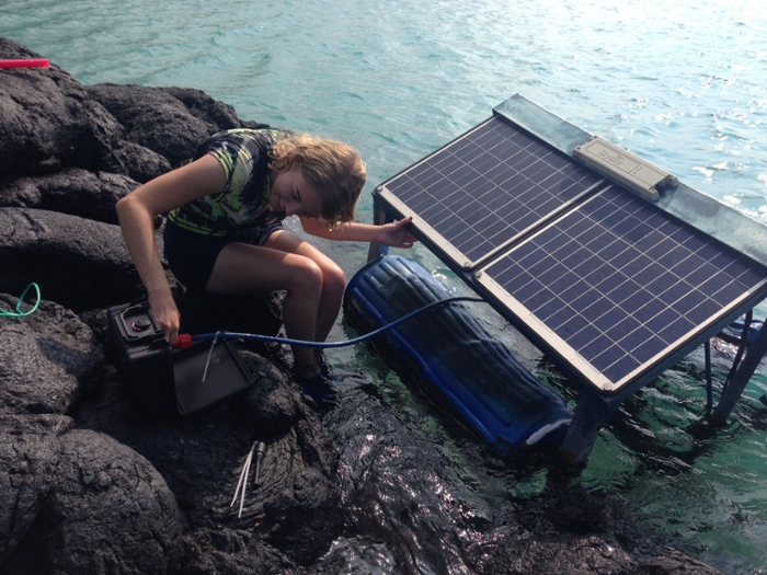 <strong>One big pool.</strong> Scientists around Hawai'i collect water quality and other data and share it through the 'Ike Wai gateway, where it can be compared and analyzed. Courtesy University of Hawai'i.