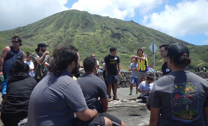 <strong>Knowledge for all.</strong> An important part of the 'Ike Wai project is partnering with the local community to inform research, and educating the next generation of groundwater resource professionals. Courtesy University of Hawai'i.
