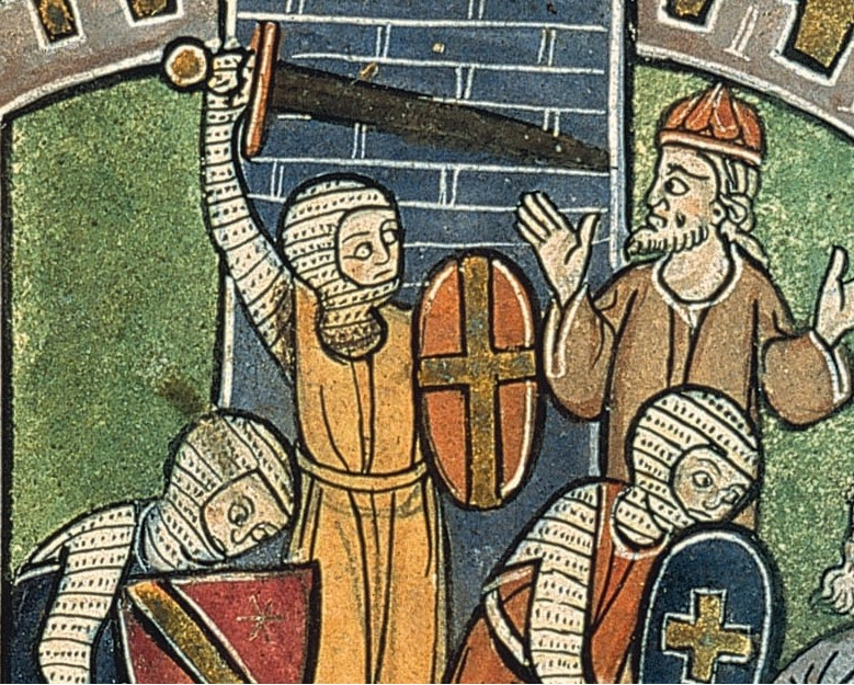 <strong>Peaceful by nature?</strong> Humans have a long history of behaving violently towards groups with opposing identity, as shown in this 13th century artwork.