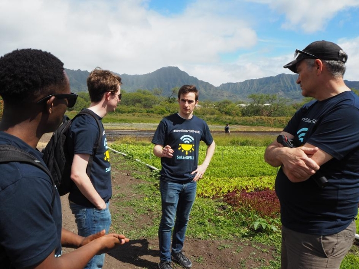 "<strong>Listening to farmers</strong> in the field led the students in new directions. ""We had to throw out a lot of preconceived notions,"" says project sponsor and ASU senior sustainability fellow Bruce Baikie. Courtesy ASU."