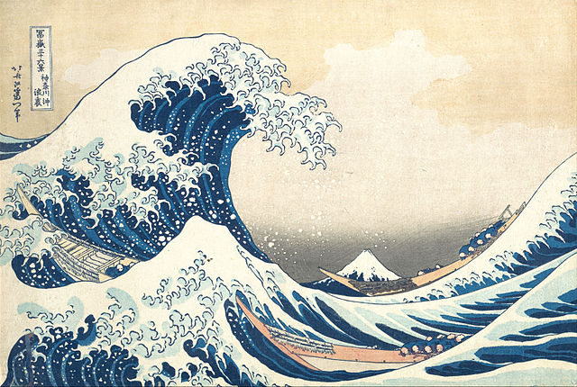 <strong>Storage solution.</strong> Hokusai's famous painting, The Great Wave off Kanagawa is just one item that has successfully been written, stored, and read on an oligopeptide. This molecular storage doesn't need light or oxygen and can remain stable for thousands of years.