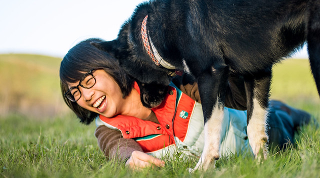 <strong>Born to love dogs.</strong> A recent twin study indicates that our genes may play a significant role in determining whether you choose to make a home with man's best friend. Courtesy Lance Cheung, USDA.