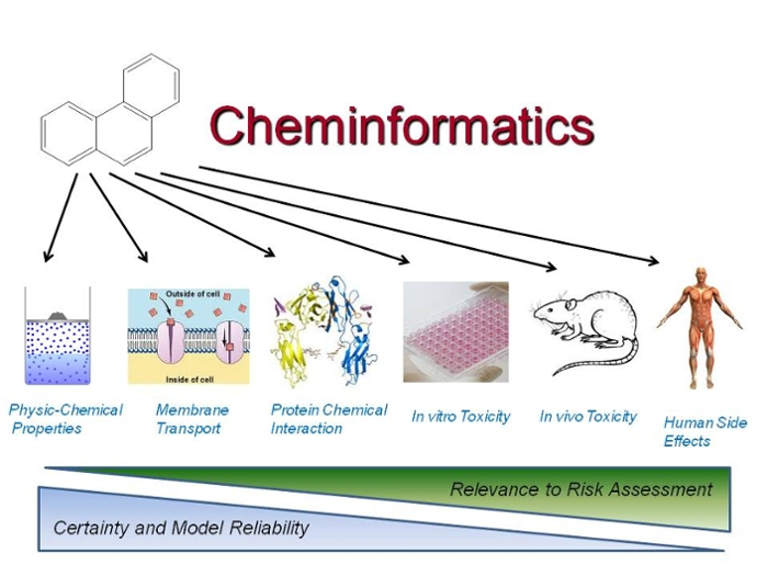 <strong>Cheminformatics</strong> is the use of computer and informational techniques applied to problems in chemistry, such as drug discovery and toxicity screening.