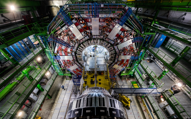 <strong>The Large Hadron Collider</strong> is the world's most powerful particle accelerator. It creates a petabyte of data every second. It's currently undergoing an upgrade that will increase the frequency of collisions, leading to even more data. Courtesy CERN.