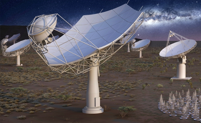<strong>It's not just people</strong> who have digital footprints. Scientific instruments, like the Square Kilometer Array (SKA), the world's largest radio telescope, also create huge quantities of data that must be moved, stored, and analyzed. Courtesy SKA.