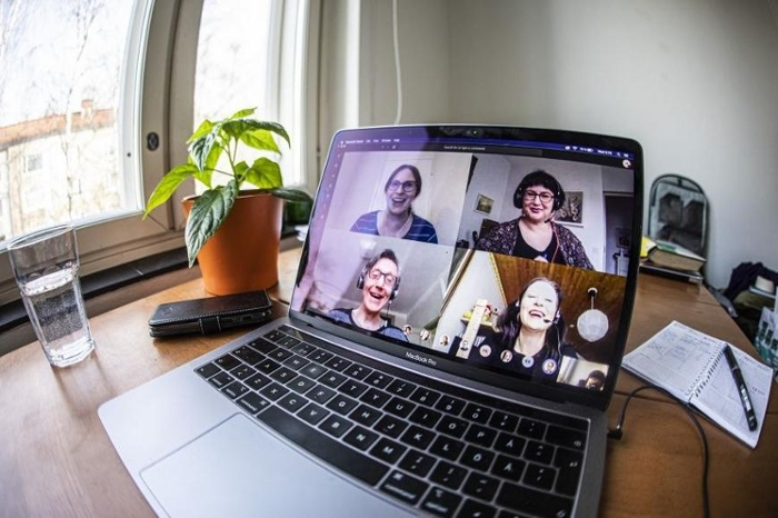 <strong>Videoconferences don't satisfy</strong> because they lack eye contact, say researchers at Tampere University. Courtesy Jonne Renvall.