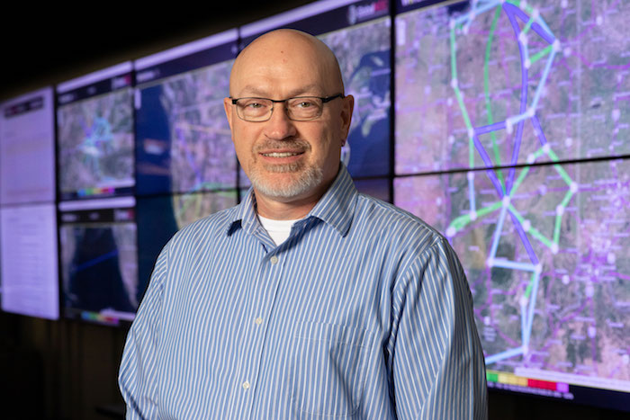 <strong>Tom Davis, director of OmniSOC</strong>, a 24/7 security operations center shared among multiple universities. Courtesy Indiana University.