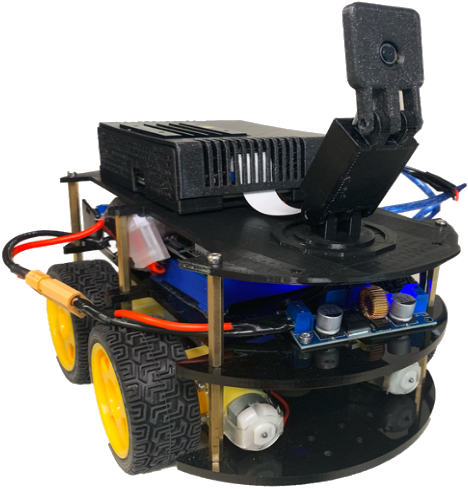 <strong>Machine learning on a budget.</strong> Students at the University of Tennessee built and trained this self-driving car for just $250. Courtesy Febbo, et al.