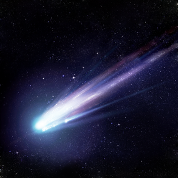 <strong>A comet's coma</strong> is the hazy cloud that surrounds the comet's icy nucleus. The coma is formed when the comet gets close enough to the sun to melt some of the ice into a cloud of gas and dust particles. Solar radiation pushes this cloud outward, which means a comet's tail will always face away from the sun.