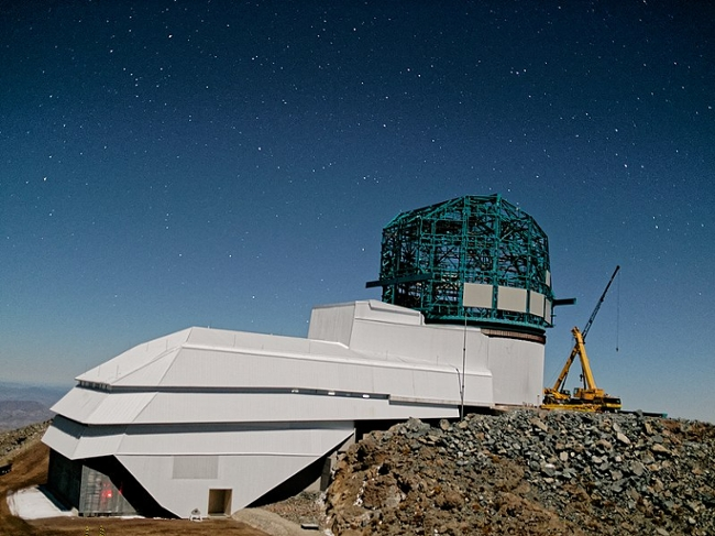 <strong>The Vera C. Rubin Observatory</strong> sits on the peak of the Cerro Pachón mountain. With little light pollution around, the observatory sees a night sky many humans don't get the chance to experience.