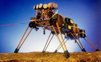<strong>Genghis looks like an alien invader</strong> and in some sense it was! This machine was built as a precursor to the kinds of autonomous robots that might one day explore the universe safely and without a risk to human lives.
